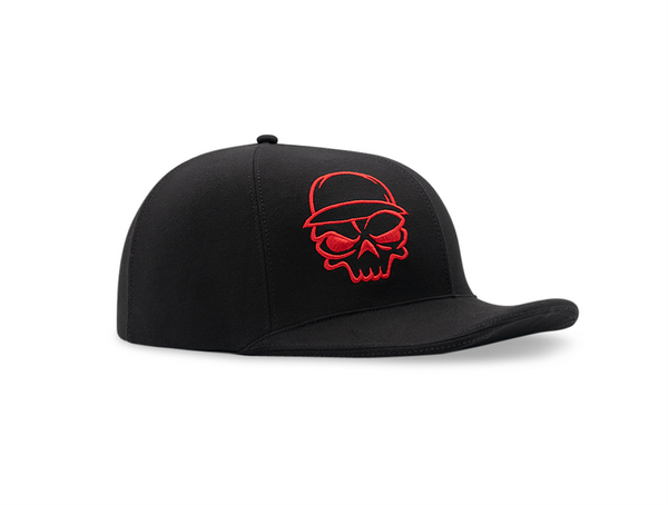 Black Lid Cover Red Skull
