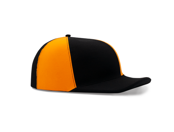Black and Orange Striped Lid Cover