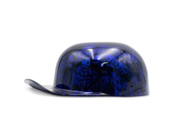 Candy Blue Gangsta Skulls DoughBoy Novelty Lid