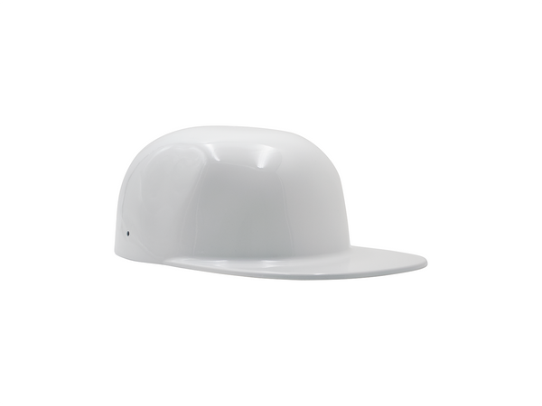Gloss White FlatBoy Motorcycle Lid Side