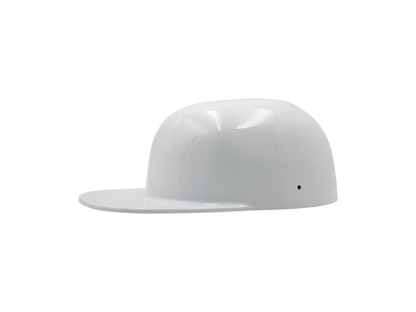 Gloss White FlatBoy Motorcycle Lid