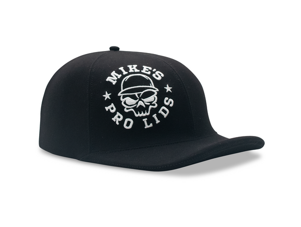 Stretchy Black Lid Cover with White Skull MPL Logo for Doughboy and Flatboy