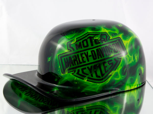 Black and Lime Doughboy - Harley Davidson