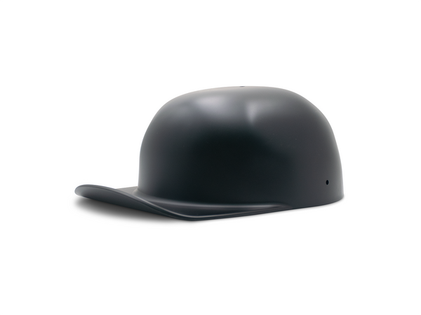 Satin Black Doughboy Motorcycle Lid