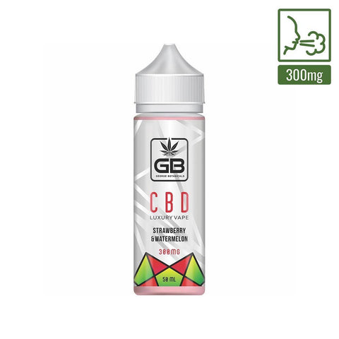 George Botanicals - CBD E-liquid - Strawberry & Watermelon - 50ml (300mg)