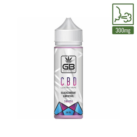 George Botanicals - CBD E-liquid  - Blackcurrant & Menthol - 50ml (300mg)