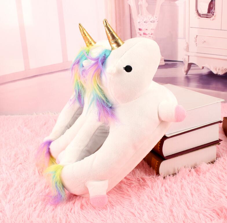chausson licorne lumineux blanc cadeau licorne cocooning