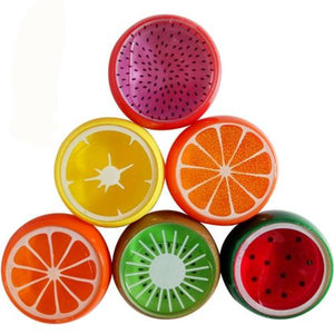 Slime transparant fruit - rouge, rose, jaune, vert, orange