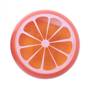 slime transparant orange fruit - les grands enfants