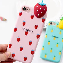 coque fraise 3D iphone kawaii