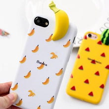 Coque kawaii banane 3D