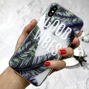coque iphone good vibes, ambiance naturelle