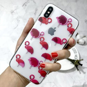 Coque iphone flamant rise