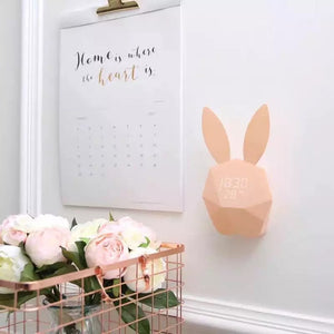 reveil lapin rose intelligent