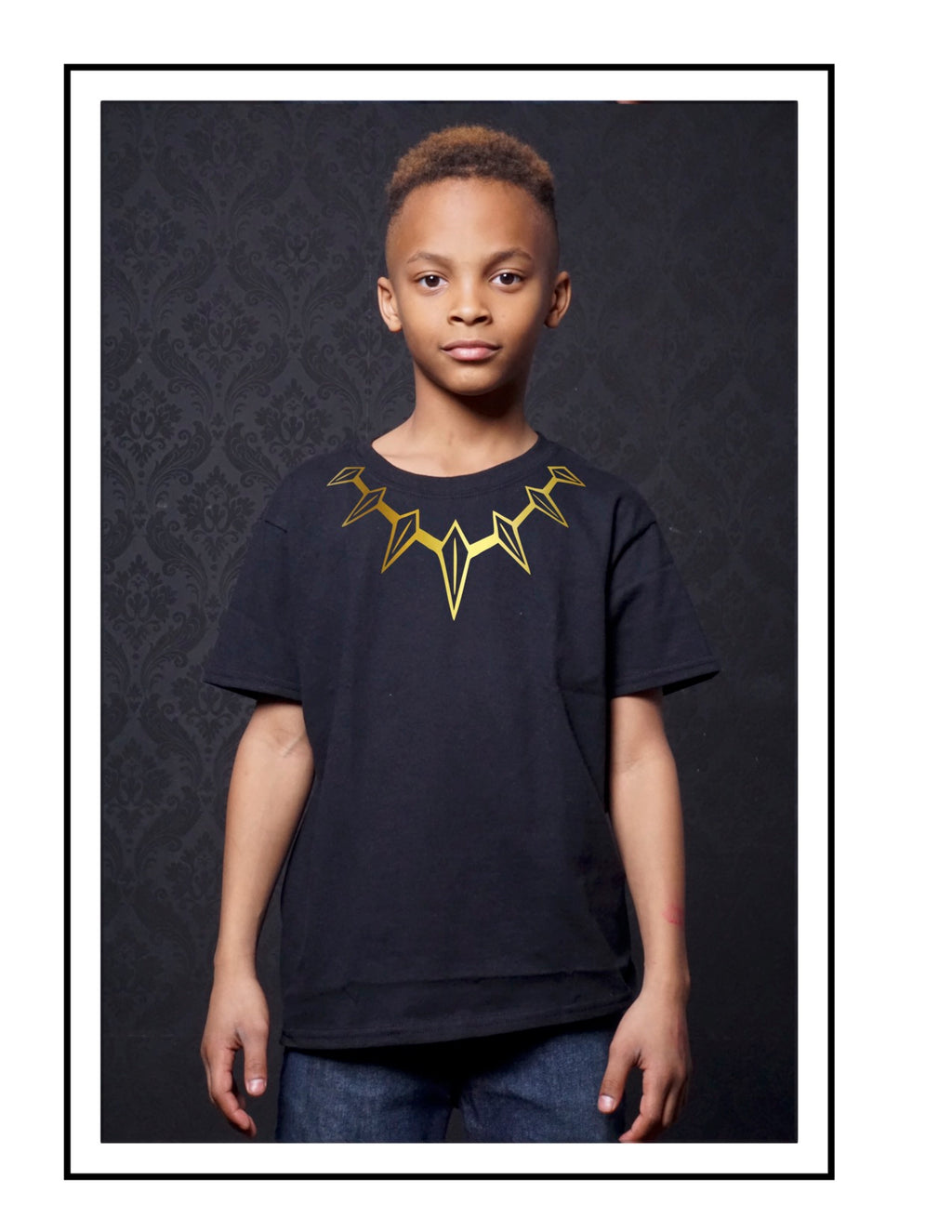 Black Panther Necklace Unisex Tees