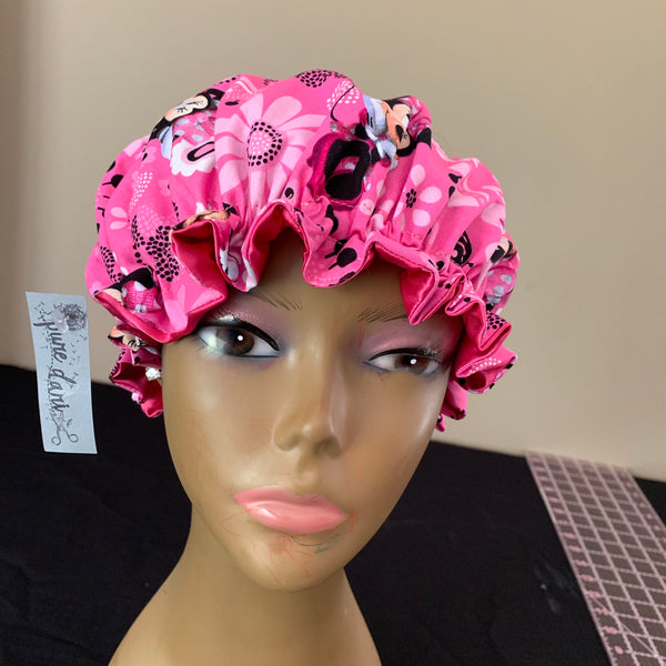 Minnie Mouse Charmeuse Satin Lined Bonnet