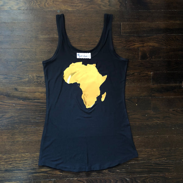 Distressed Foil Africa Silhouette | Women's Tank