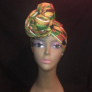 African Kente Headwrap | Accessories