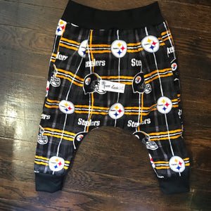 Steelers Flannel Harem Pants (Black)