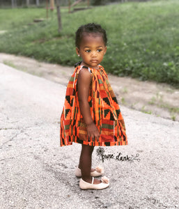 African Kente (OR CUSTOM FABRIC) Pillowcase Dress