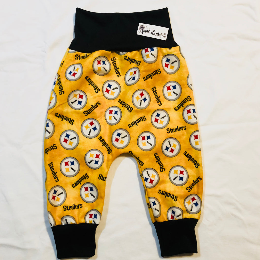 Steelers Flannel Harem Pants (Yellow)