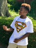 African Kente Superman Unisex Tees