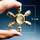 Hexa Wheel Brass Fidget Spinner