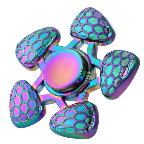 Rainbow Chrome Fidget Spinners