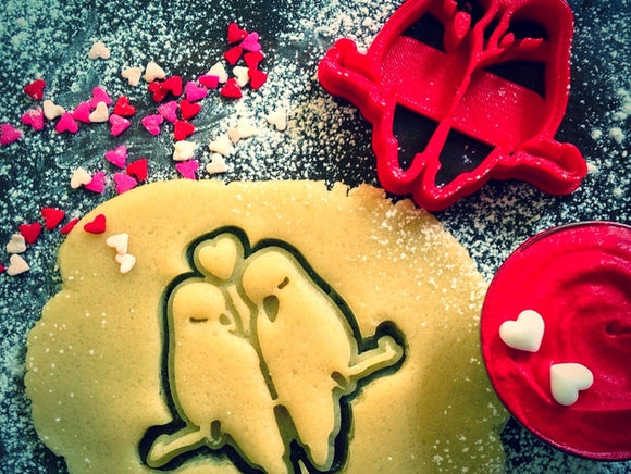 Valentine's Day Love Birds Cookie Cutter