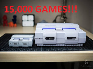 Super Nintendo SNES 3D Printed Case RetroPie System with Almost 15,000 Games Installed with Kodi