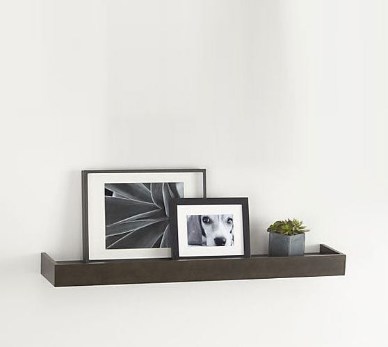 Crate Barrel Archetype Espresso 3 Photo Ledge 2 Available