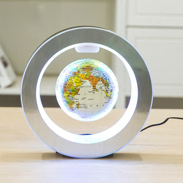 Office Floating Globe - White LED