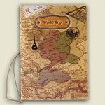 World Map Travel Passport Cover