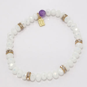 Pearlized White/Light Gold