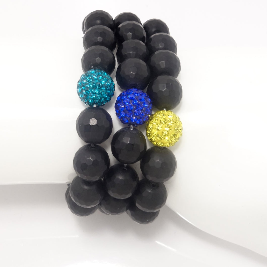 Black Agate/Royal Yellow/ Royal Blue/Turquoise