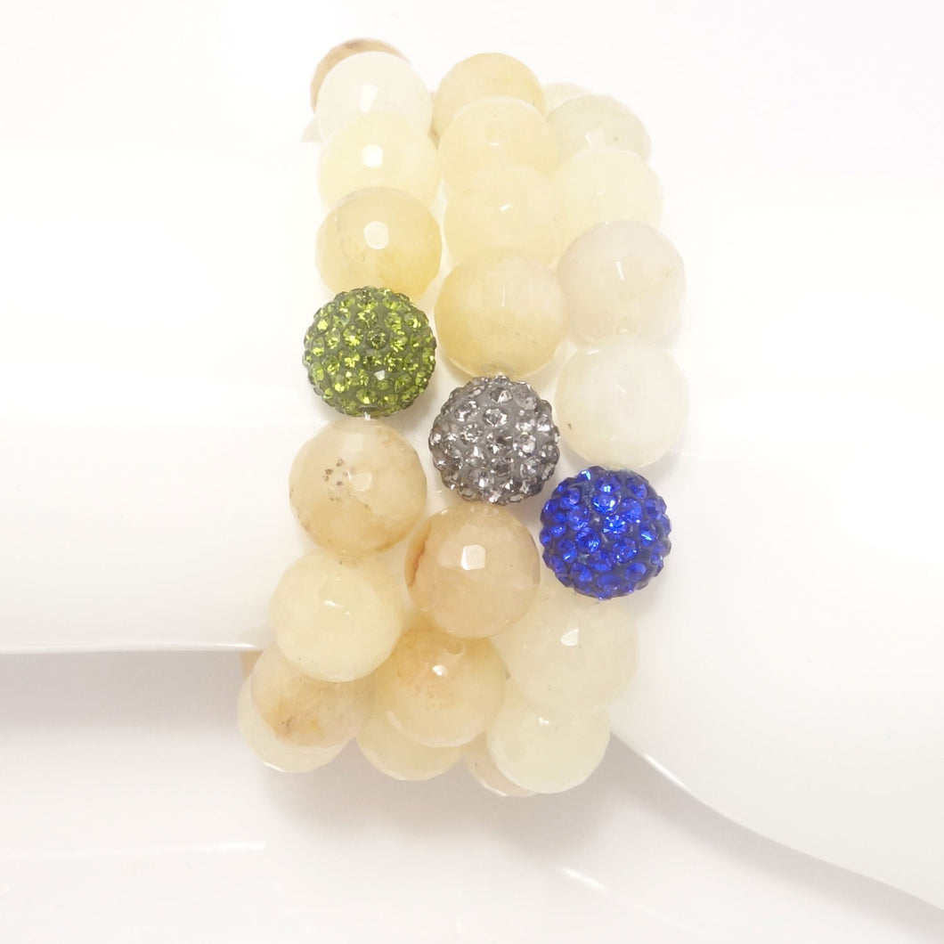 Sheer Yellow Quartz/Royal Blue/Light Grey/Army Green
