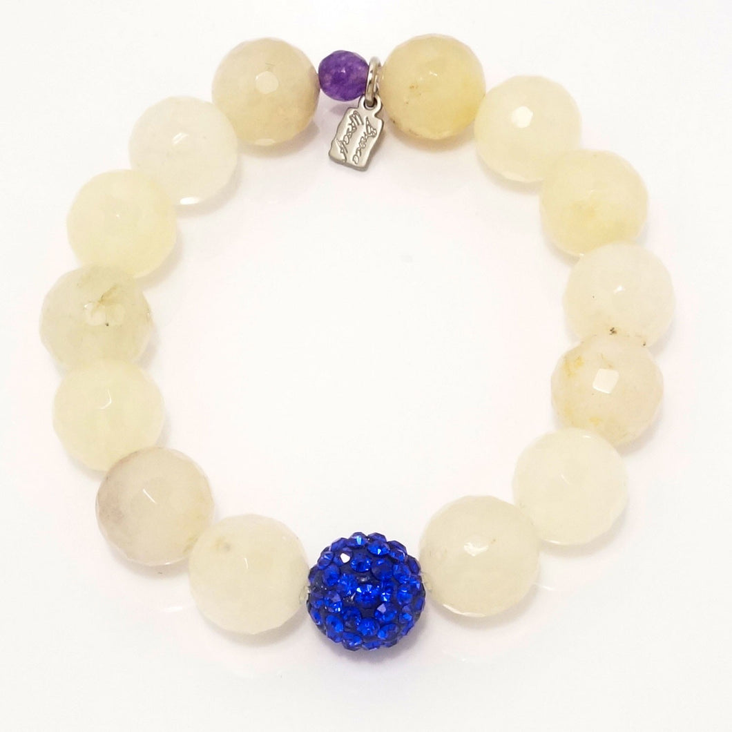 Sheer Yellow Quartz/Royal Blue