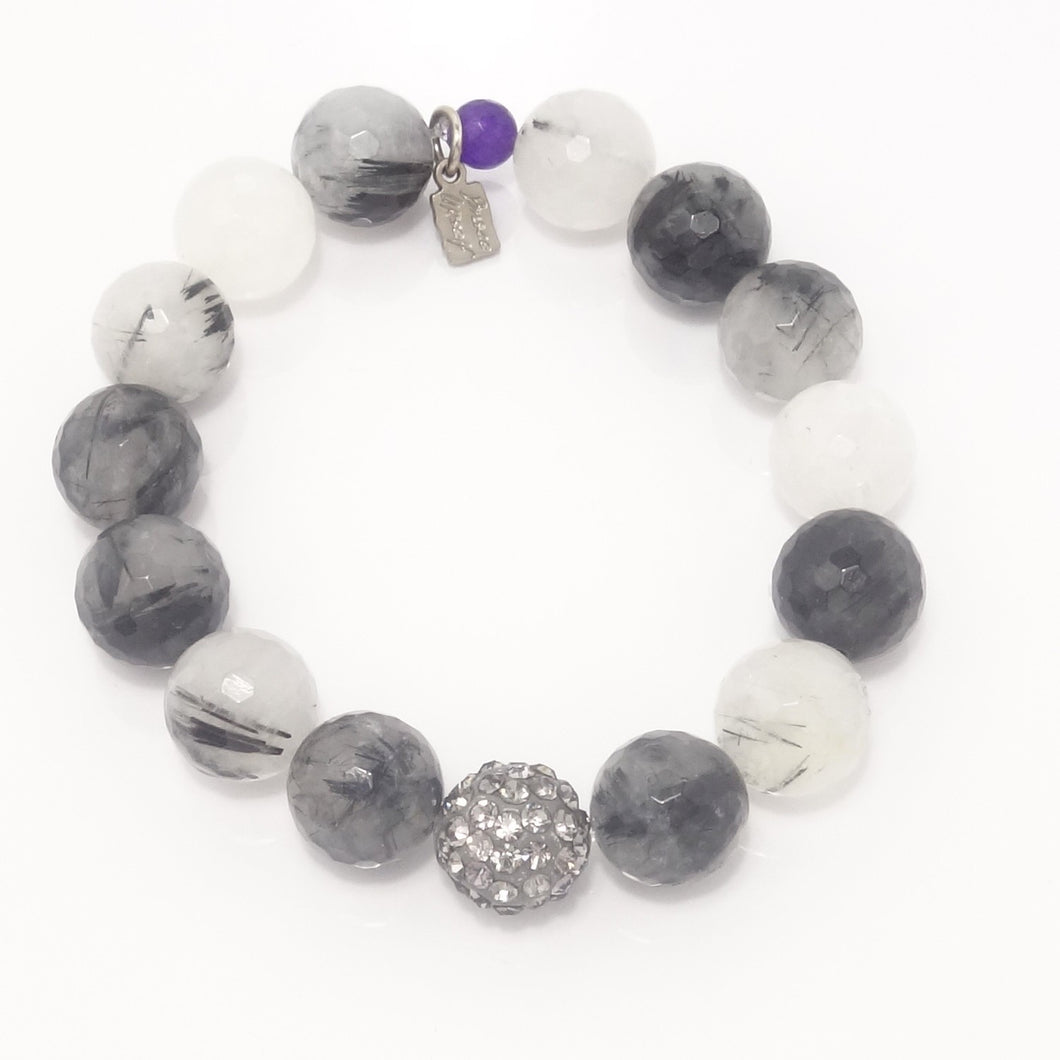 Black and White Agate/Light Grey