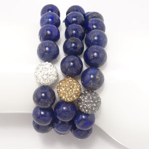 Blue Lapis/Light Grey/ Gold/Silver