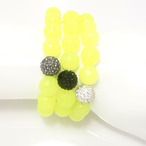 Neon Yellow Agate/Silver/Black/Light Grey