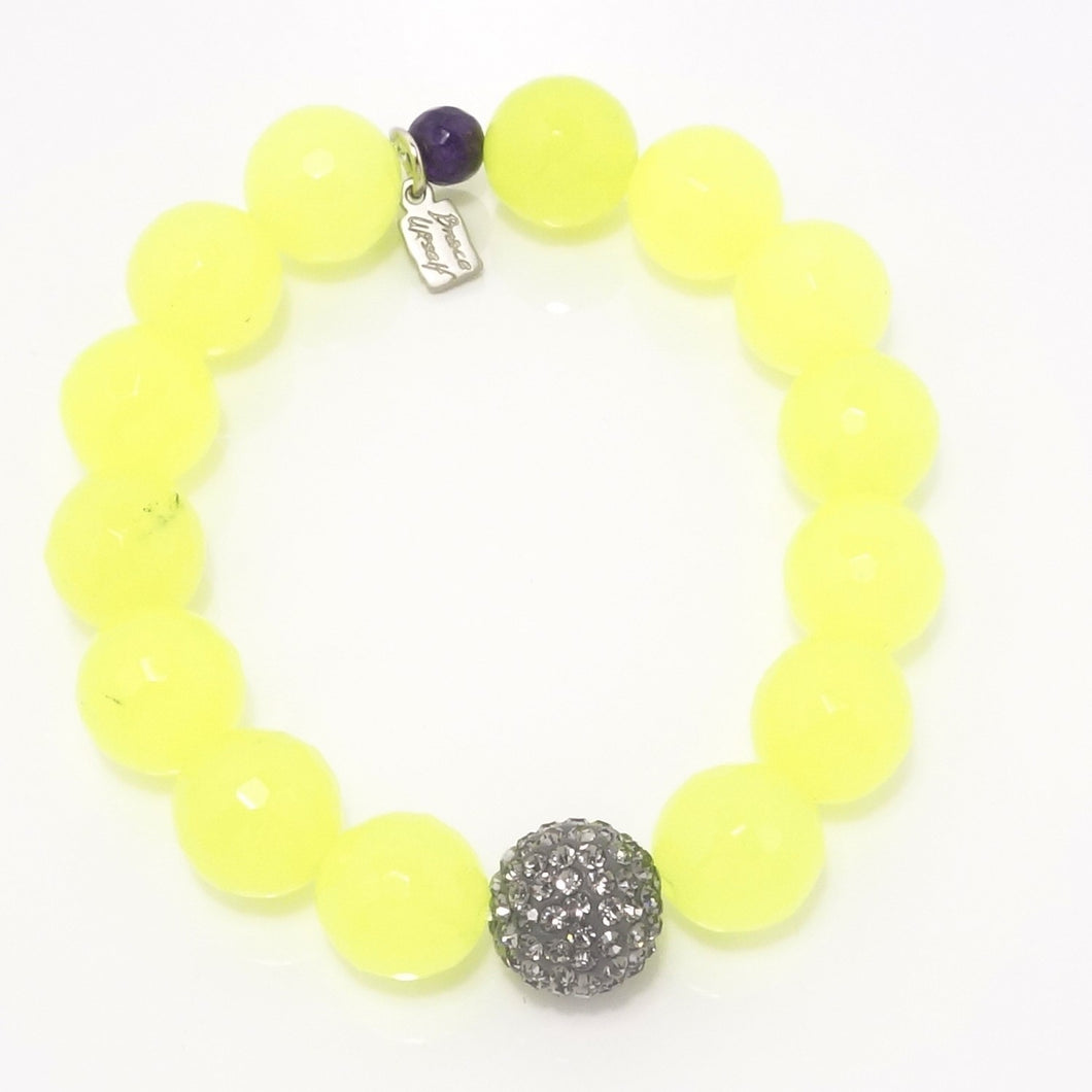 Neon Yellow Agate/Light Grey