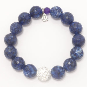 Navy Speckled Agate/Silver