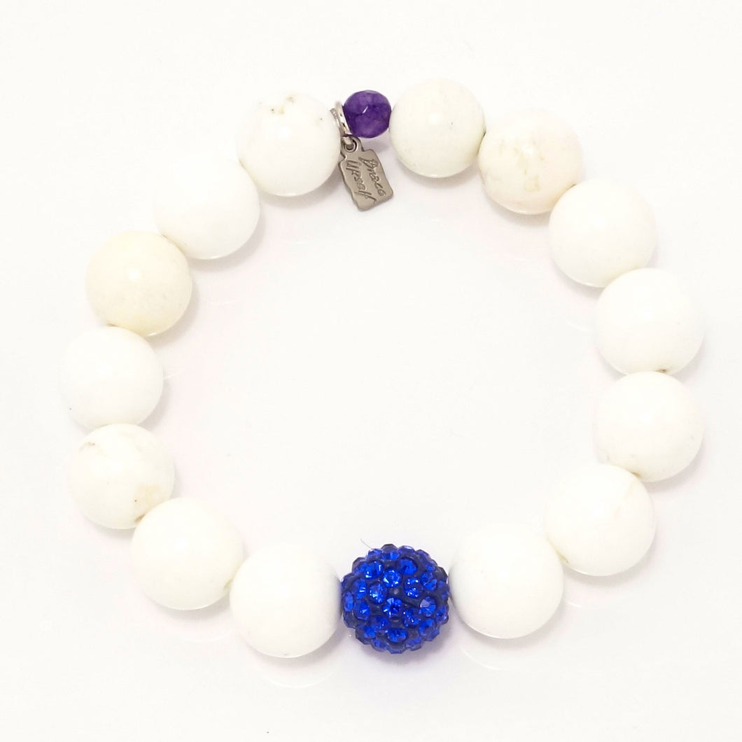 White Turquoise Royal Blue