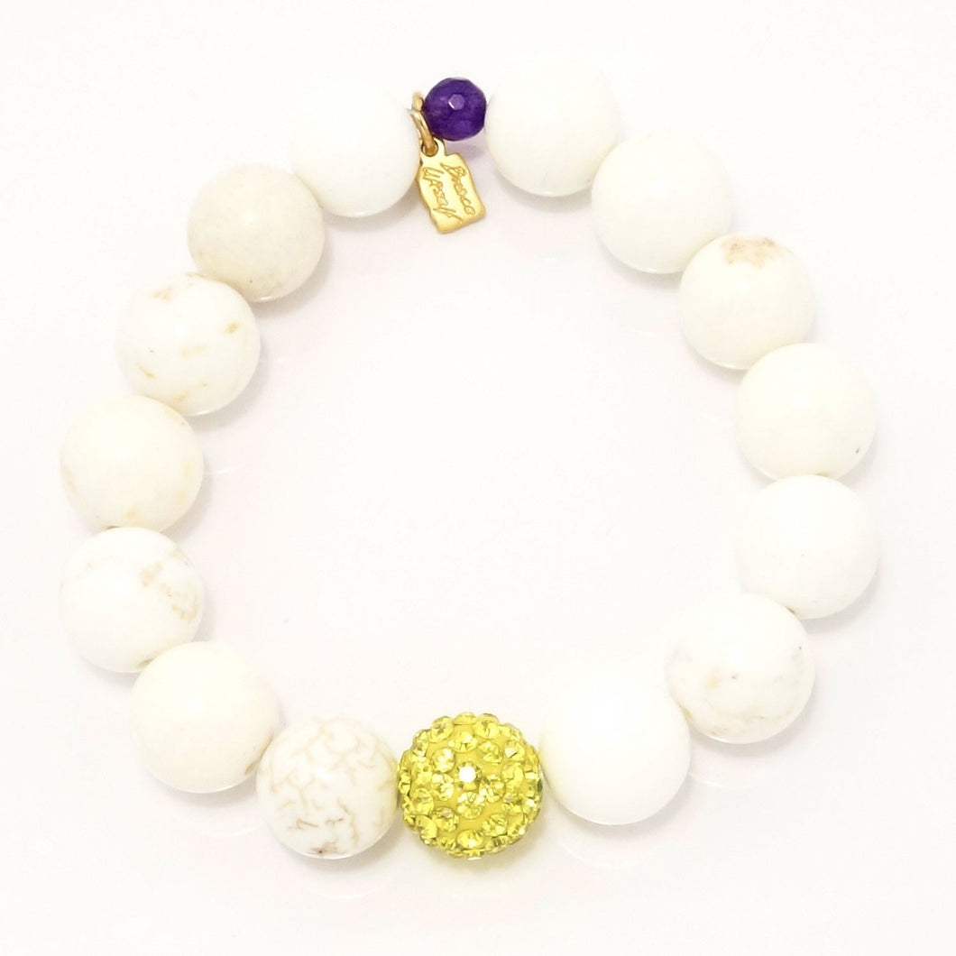 White Turquoise Royal Yellow
