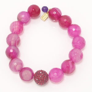 Hot Pink Agate/Red