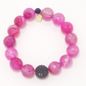 Hot Pink Agate/Black