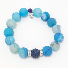Sea Blue Druzy/Navy Bracelet