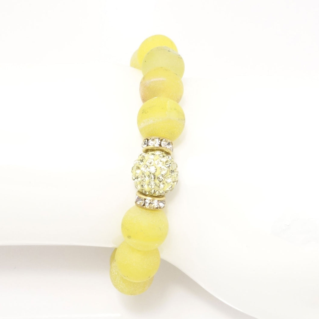 Lemon Yellow Druzy/Light Yellow Bracelet