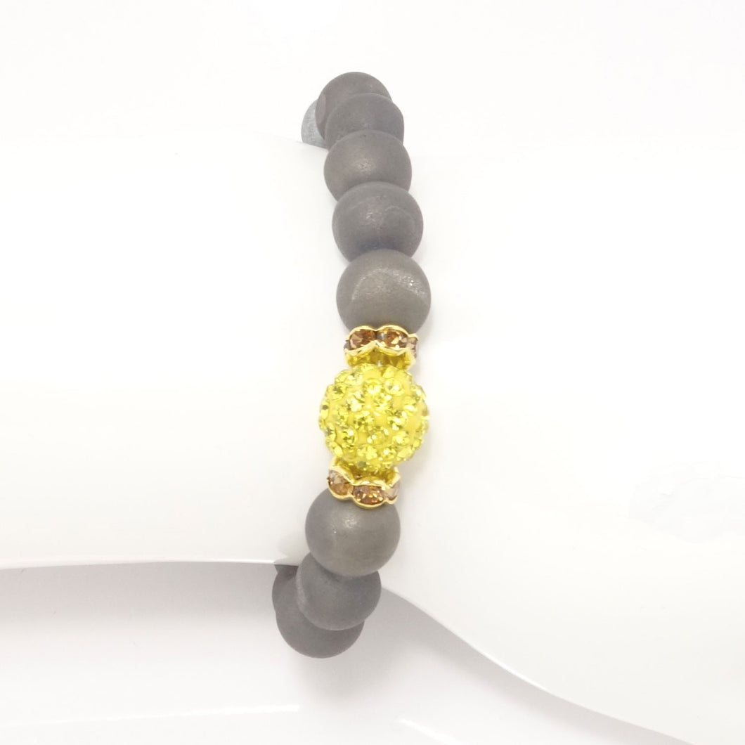 Platinum Druzy/Royal Yellow Bracelet