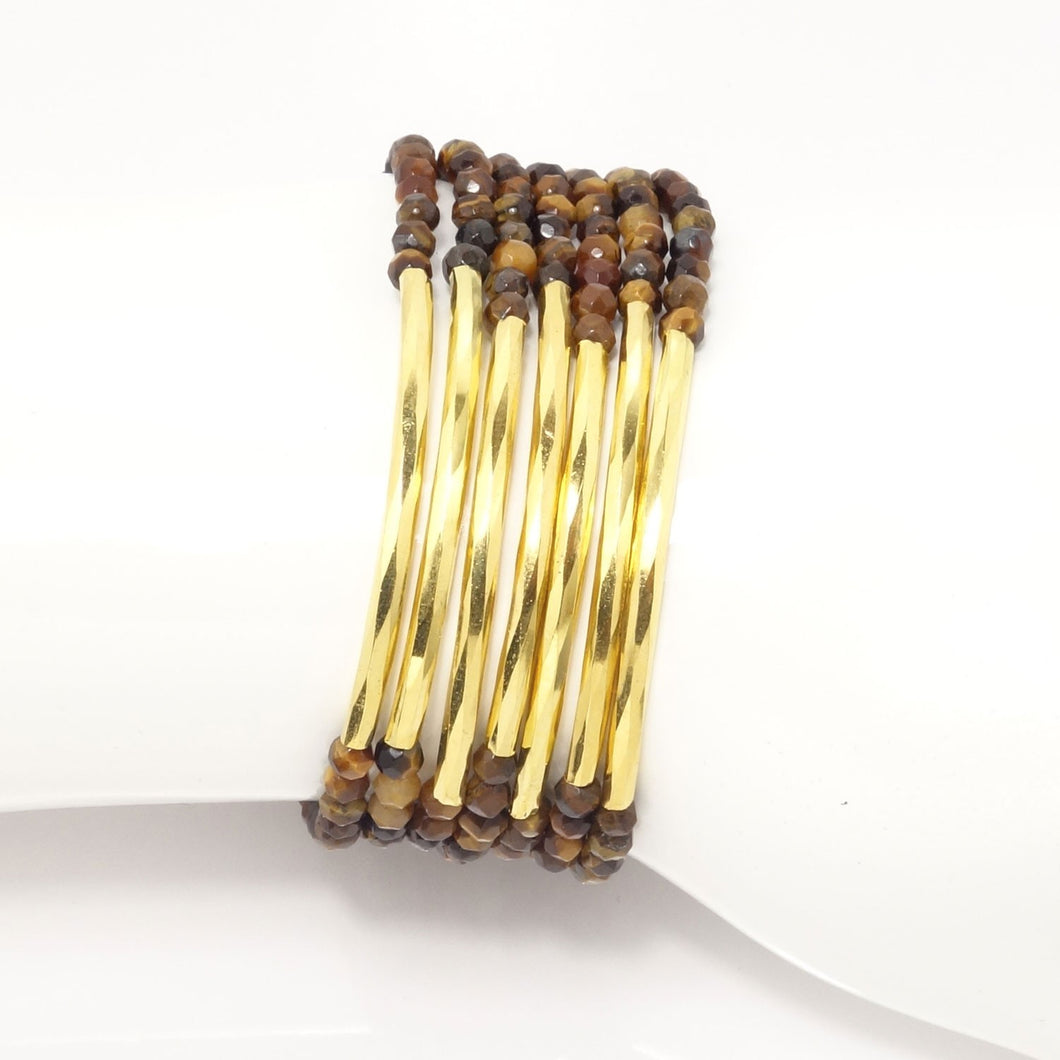 Tiger Eye/Gold Bars